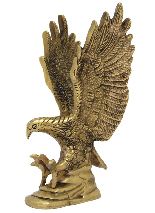 Brass Figurine Wild Bird Garuda Wahan of Lord Vishnu for Home Décor Size: 7.5x3.25x1.75 Inch