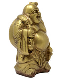 Brass Statue and Sculpture Laughing Buddha for Good Luck Money and Prosperity Size: 5.5x2.75x2 Inch