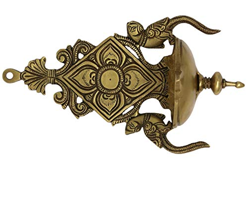 Pack of 12 Corporate Gifts for Diwali Colorful Two Peacock Decor Hanging Brass Diya Hindu Home Decorations