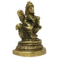 Brass Saraswati MATA Statue Hindu Deity for Home Decor Puja Maa Saraswati Sitting On Swan Brass Idols Sculpture Religious Gifts