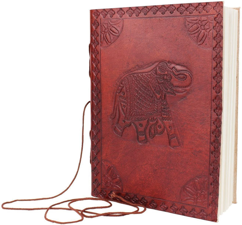 ShalinIndia Leather Blank Notebook Diary Travel Writing Sketchbook Rustic Design Gifts(SB_Diary_5)