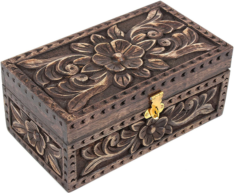 ShalinIndia Wooden Handicrafts Jewelry Box for Necklaces Earrings & Trinkets Size 20X10X9 Cm.(SB_WC_003)