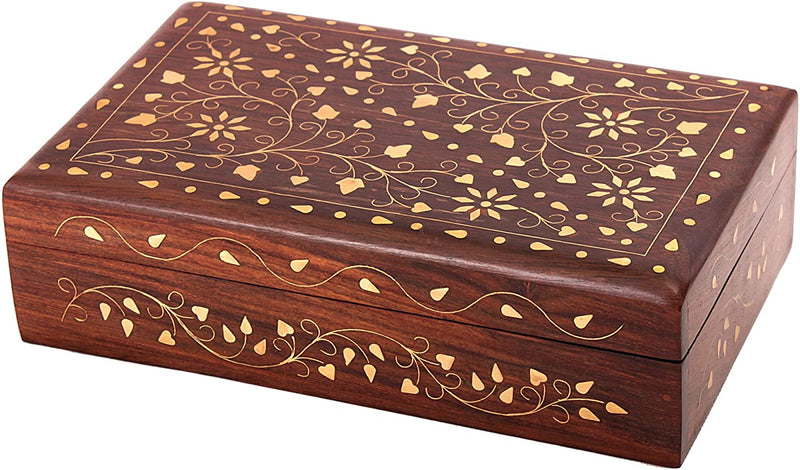 ShalinIndia Handmade Gifts for Women Wooden Jewellery Box Size 7x5x2.5 Inch.(SB_WC_010)