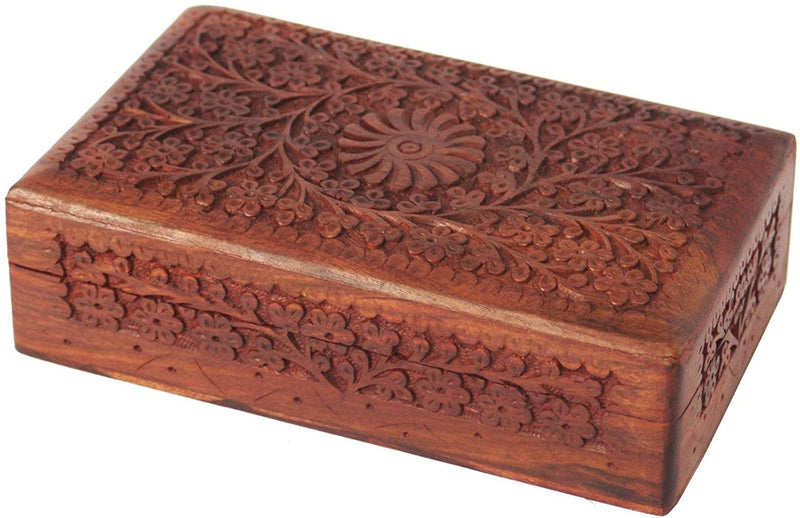 ShalinIndia Handcrafted Gifts for Girls Wooden Jewellery Storage Box Size 20.3X12.7X6.4 Cm.(SB_WC_015)
