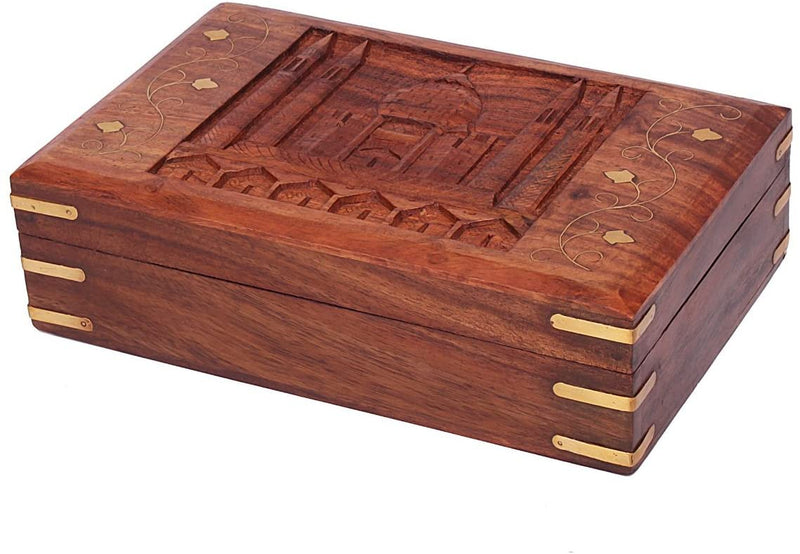 ShalinIndia Handcrafted Return Gifts for Girls Wooden Jewellery Storage Box Size 8X5X3 inch.(SB_WC_018)