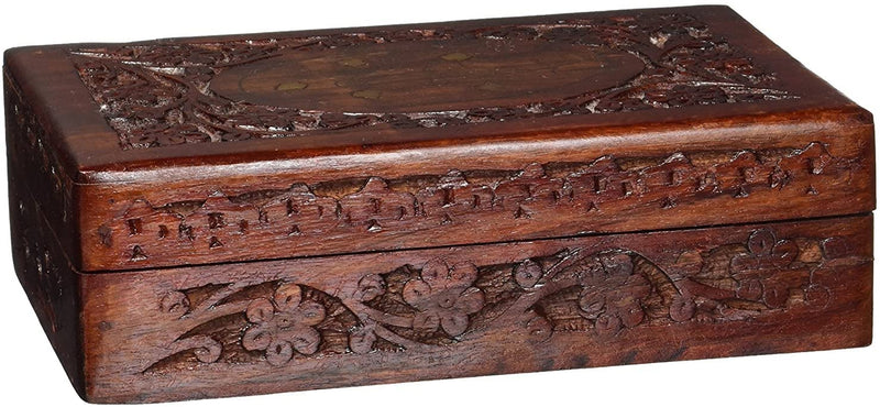 ShalinIndia Decorative Wooden Box for Jewellery Storage Unique Gift for Her Size 6X4X2.5 inch.(SB_WC_039)