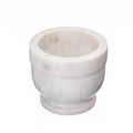 Shalinindia Handcrafted Opal White Marble Mortar Pestle Set -Perfect for Grinding Herbs, Seeds & Spices -Dia-4 Inch