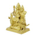 Religious Brass Sculpture Lord Shiva Mata Parvati With Family Lord Ganesha,Lord Kartikeya Hindu Home Décor,Small 6 Inch,1.57 Kg