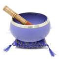 ShalinIndia Sahasrara Violet Buddhist Singing Bowl - Ideal for Meditations, Ayurveda & Yoga - Tuned to the 7th Chakra Crown Chakra - Fine Quality Brass - 5.5 Inch