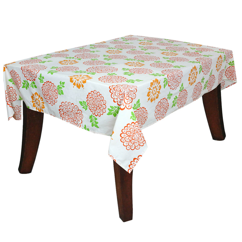 ShalinIndia Table Décor Accessories Rectangular Indian Tablecloth Cotton Floral Print 60X90 Inch