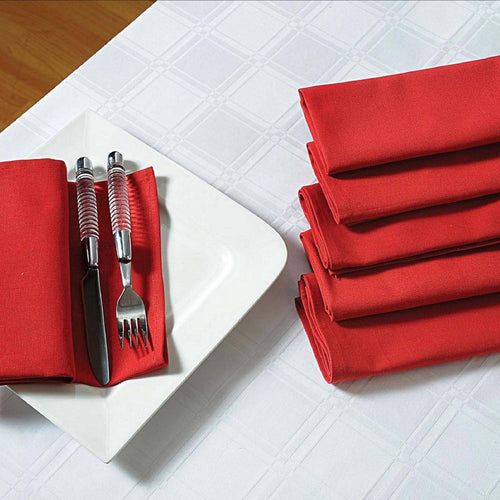 Solid Color Cotton Dinner Napkins - 20 inch x 20 inch - Set of 4 Premium Table Linens for the Dining Room - Maroon