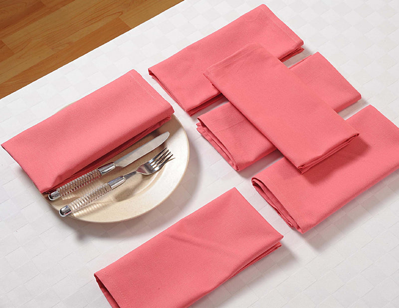 "ShalinIndia Cloth Dinner Napkins - 24"" x 24"" - Rose - Yellow - Set of 4 - Perfect for Weddings & Dinner Parties"