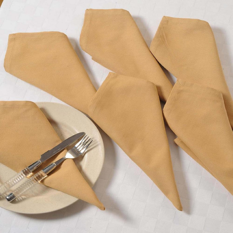 Beige Napkins Set of 6; Cotton Table Linens; Spring Decorations for Home