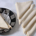 Cream Napkins Set of 6; Cotton Table Linens; Spring Decorations for Home