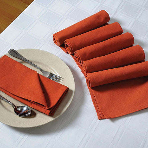 Rust Napkins Set of 6; Cotton Table Linens; Spring Decorations for Home