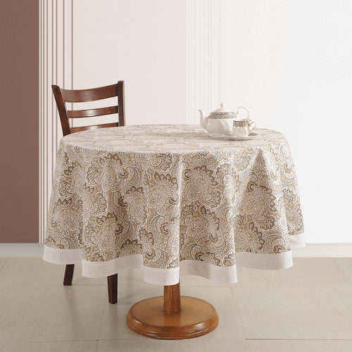 "Tablecloth 4 Seater Cotton Handmade Indian Home Décor 70"" Round Printed Floral"