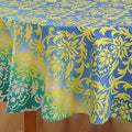 Tablecloth 6 Seater 86 Inch Round Cotton Floral Print  Indian Décoration