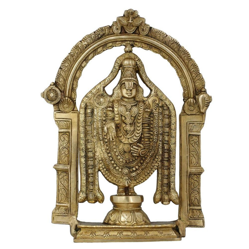 Brass Statue Balajee Hindu Idol for Puja at Home Temple Mandir 13 Inch Religious Gifts - Weight 4.32 kg