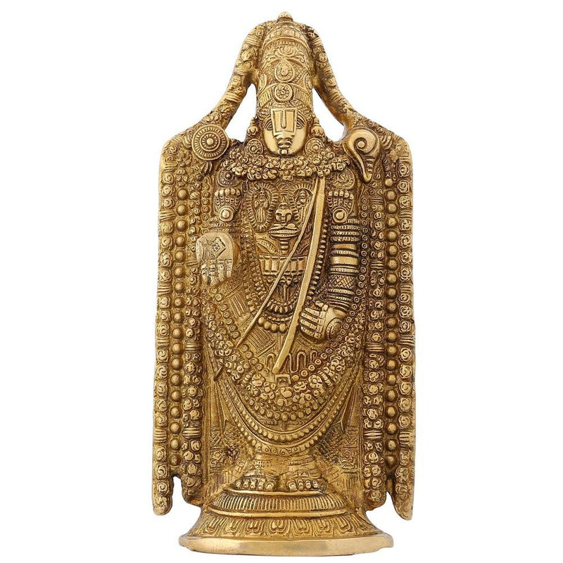 Sculpture For Home Hindu Gifts Balaji Venkateswara Religious Items Brass 9.5 Inch- 2.1 kg