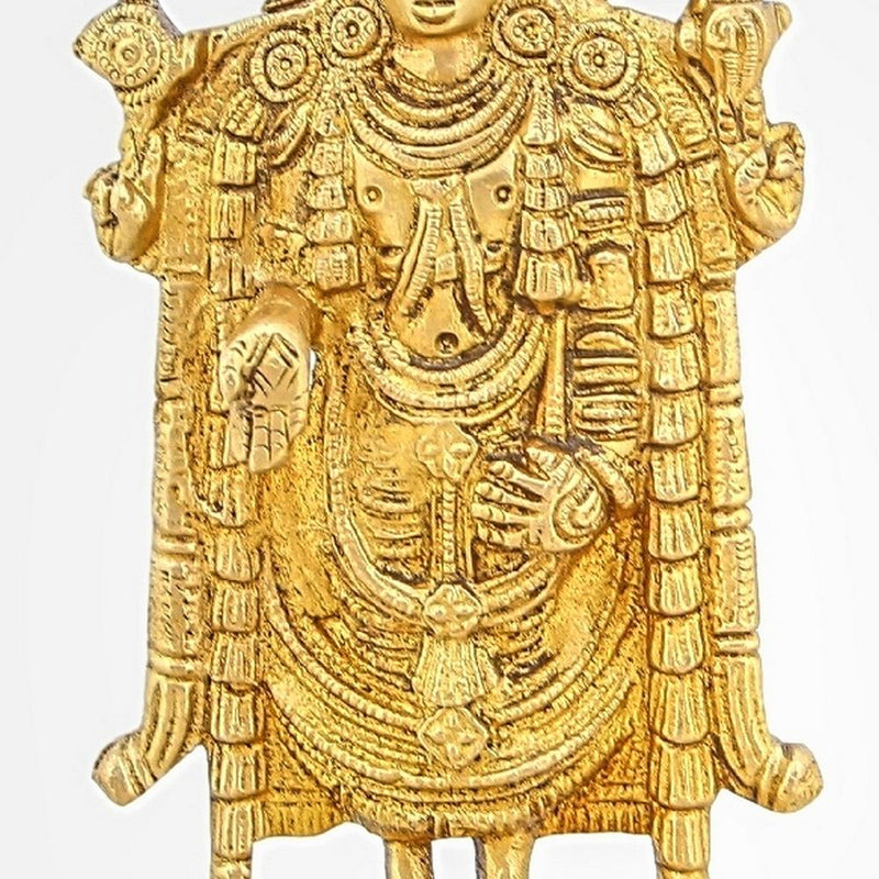 Shalinindia Brass Statue Standing Balajee Venkateswara Religious Items For Puja 7 InchWeight-925 Grams