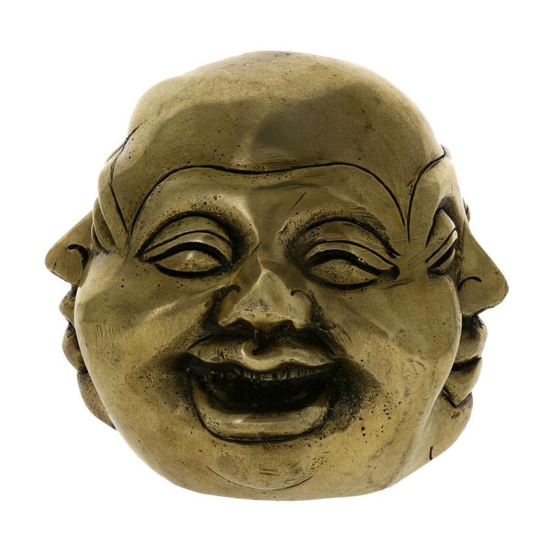 Buddha Head Four Faces Brass Statue