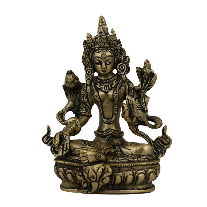 Tara Buddha Sculpture and Statue in Brass