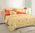 ShalinInida Bedroom Decoration Bedding Set of Duvet Cover Pillowcase Shams Cushion Cover for Twin Bed - Floral Printed