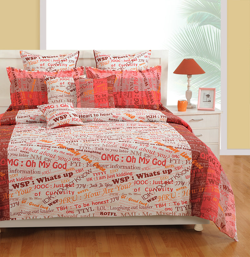 ShalinInida Bedroom Decoration Bedding Set of Duvet Cover Pillowcase Shams Cushion Cover for Twin Bed