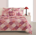 ShalinInida Bedroom Decoration Bedding Set of Duvet Cover Pillowcase Shams Cushion Cover for Twin Bed - Violet Red