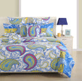 ShalinInida Bedroom Decoration Bedding Set of Duvet Cover Pillowcase Shams Cushion Cover for Twin Bed - Colorful Paisley