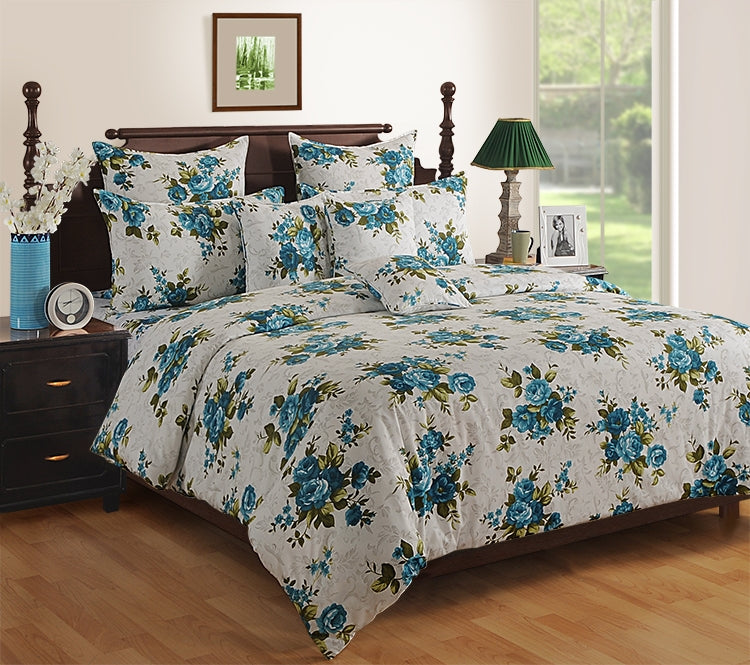 ShalinInida Bedroom Decoration Bedding Set of Duvet Cover Pillowcase Shams Cushion Cover for Twin Bed - Mystical Roses