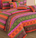 ShalinIndia Bedroom Decoration Bedding Set of Multicolor Duvet Cover Pillowcase Shams Cushion Cover for Twin Bed