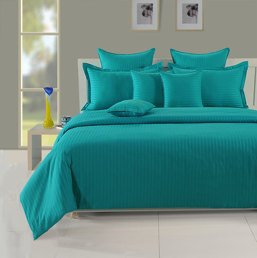 ShalinIndia Bedroom Decoration Bedding Set of Aqua Turquoise Duvet Cover Pillowcase Shams Cushion Cover for Twin Bed