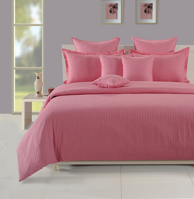 ShalinIndia Bedroom Decoration Bedding Set of Pink Possession Duvet Cover Pillowcase Shams Cushion Cover for Twin Bed bedset_3802-Pink