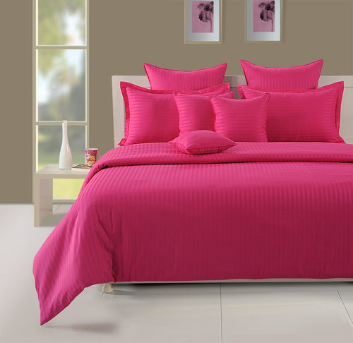ShalinIndia Bedroom Decoration Bedding Set of Pink Duvet Cover Pillowcase Shams Cushion Cover for Twin Bed