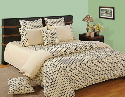 ShalinIndia Bedroom Decoration Bedding Set of Cream Duvet Cover Pillowcase Shams Cushion Cover for Twin Bed