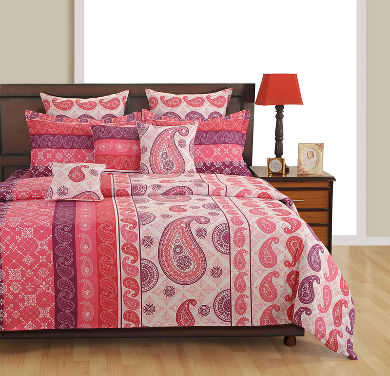 ShalinInida Bedroom Decoration Bedding Set of Duvet Cover Pillowcase Shams Cushion Cover for Twin Bed - Paisley Print