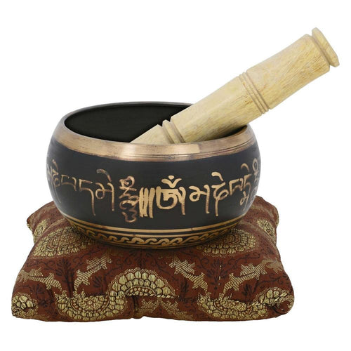 ShalinIndia Tibetan Buddhist Singing Bowl Décor Instruments for Meditation Religious Gift 4 inches