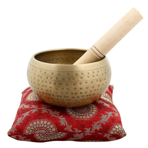 Musical Instrument for Meditation with Stick and Cushion 4.25 Inches Bell Metal Tibetan Buddhist Singing Bowl- Superior Quality