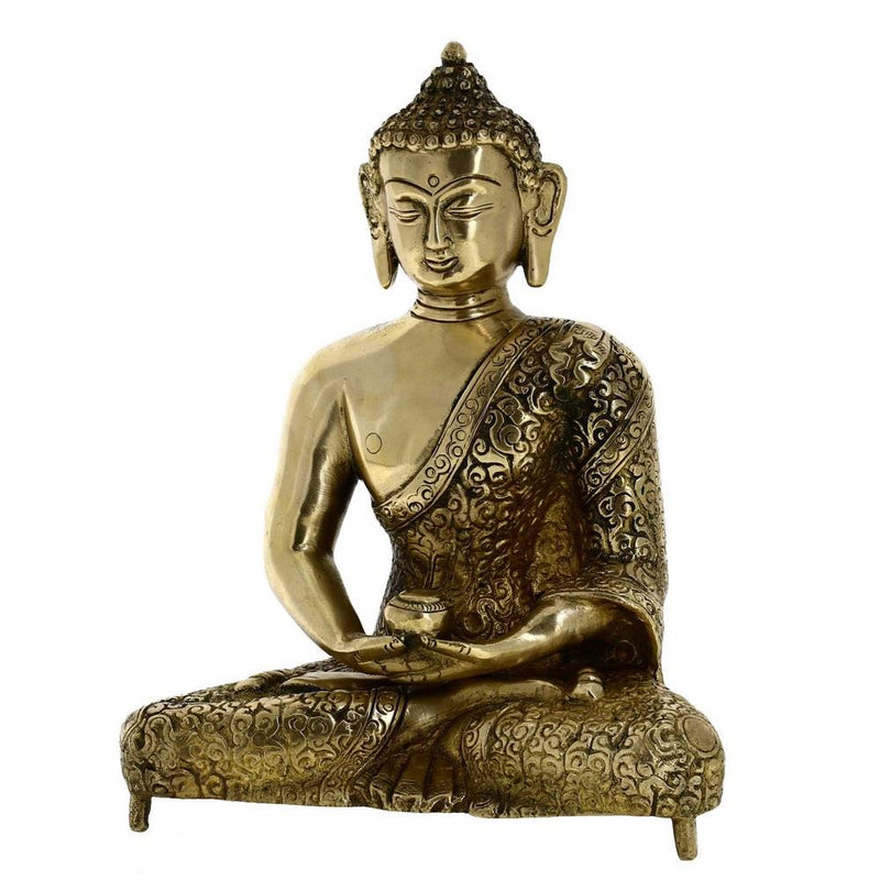 Buddhism Décor Meditating Buddha Statue Buddhist Metal Art 8 Inches