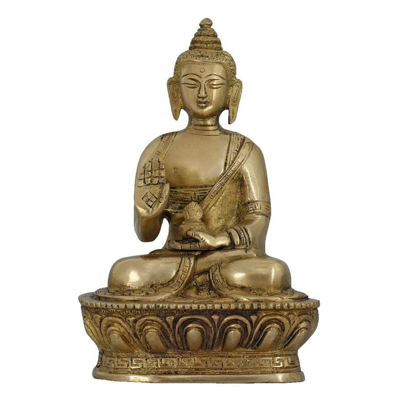 Buddhism Home Decoration Seated Buddha Figurine Hinduism Religious Gifts 6.5 Inches Indian Art
