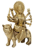 Goddess Durga Statue Brass Sculpture Art Indian Decor Hindu Puja Idol 12 Inch