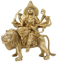 Ma Durga Statue Idol of Devi MATA for Hindu Puja Temple Brass Sculptures 8 Inch