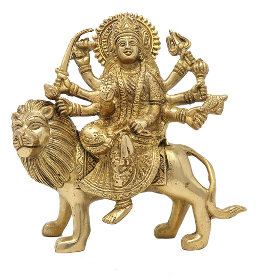 Durga Statue Art Indian Hindu Puja Idol Religious Items for Home Temple 8 Inch