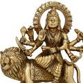 Handmade Indian Brass Ma Durga Statue - Hindu Religious Items for Home Puja or Temple - 6.25 Inches Tall