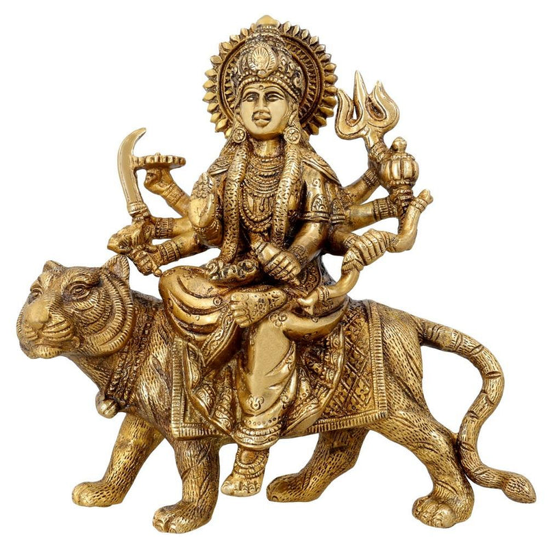 Maa Durga Statue Brass Religious Gifts Idol Hinduism Décor Durga Puja 8.5 Inch2.8 Kg