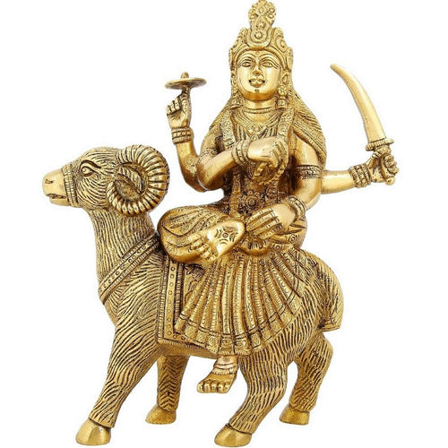 Shalinindia Brass Statue Goddess Durga Ma Hindu Religious Items For Home Puja or Temple 9.5 InchWeight-2.8 kg
