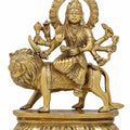 Brass Statue Durga Devi Idol Hindu Goddess for Puja Mandir Temple H: 7.5 Inches W: 1.7 Kg
