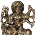 Antique Goddess Durga Metal Sculpture