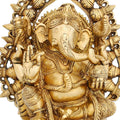 Religious Gifts Brass Statue Ganesha Idol for Puja Mandir at Home Size 10 X 7 Inches God Of Luck